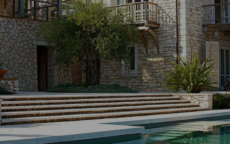 Front Elevation Stone Work : Corfu stone constructions